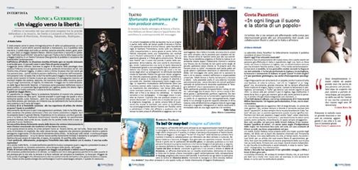 Cultura Interviste a Monica Guerritore e Greta Panettieri